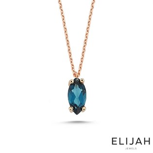 Markiz London Blue Topaz Kolye
